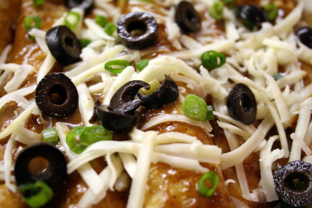 Enchiladas Pre Baked Closeup